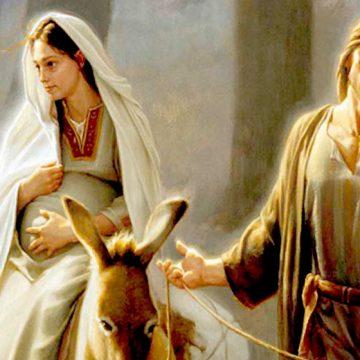 La Virgen María, y su hijo Jesús.
