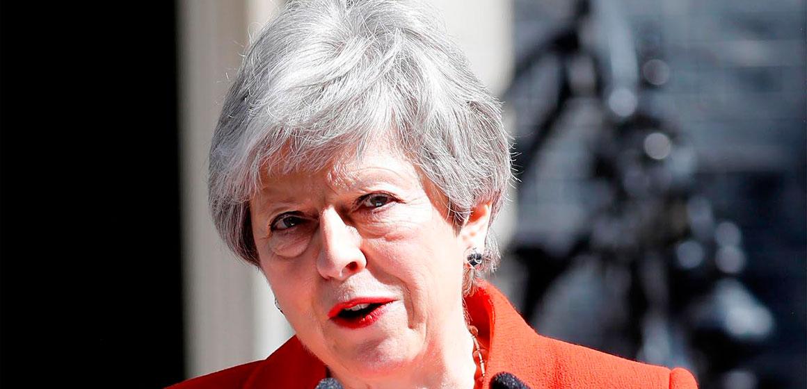 La Primera ministra britanica, Theresa May dimitirá como líder del Partido Conservador el 7 de junio.