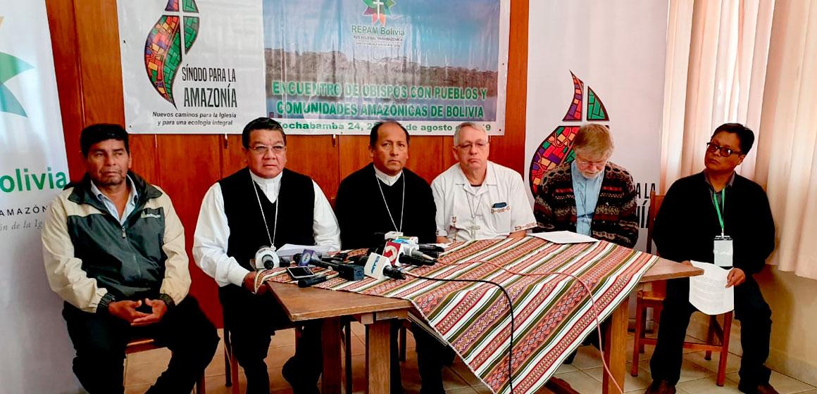 Obispos expresan su clamor ante la catástrofe de los incendios en la Amazonia boliviana