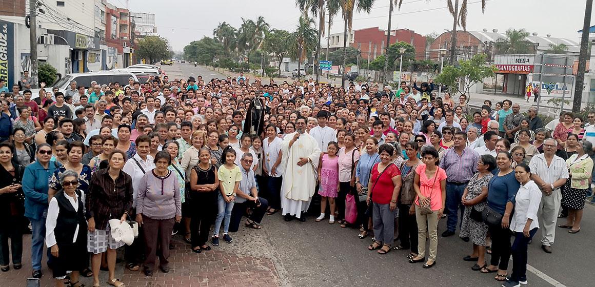 La parroquia San Martín de Porres cumplió 55 años.