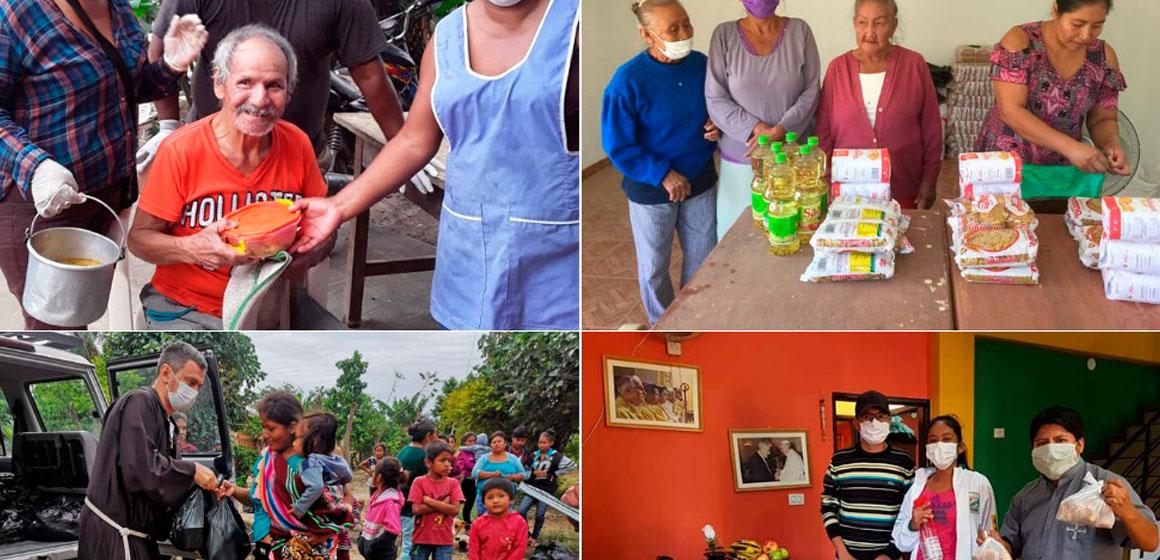 """Iglesia de Santa Cruz promueve la campaña """"La Solidaridad se Contagia""""."""
