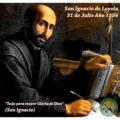 San Ignacio de Loyola, fundador de la Compañía de Jesús, están de fiesta.