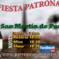 Fiesta Patronal de la Parroquia San Martin De Porres 2020